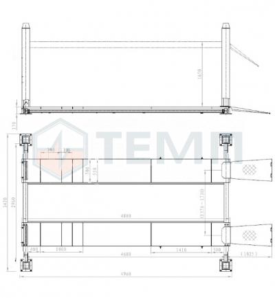Подъемник TEMP TFA5500-3D