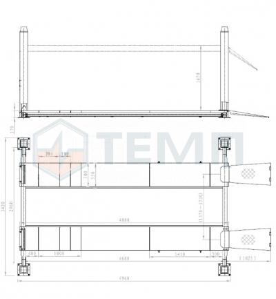 Подъемник TEMP TFL5500-3D